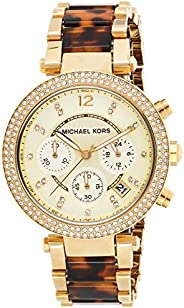 Michael Kors Womens Quartz Watch, Analog Display and Stainless Steel Strap MK5688