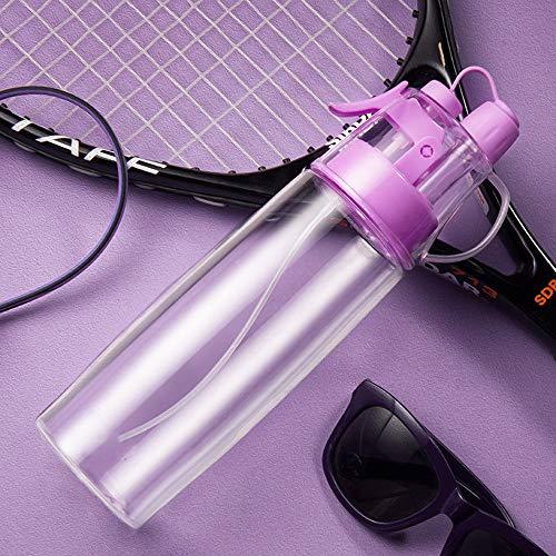 AYD Borraccia sportiva con spruzzo, facilmente portatile, borraccia originale per studenti, sport, bollitore spaziale, senza BPA, Purple