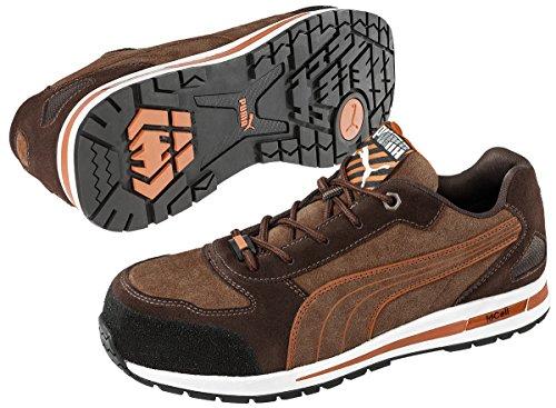 Puma Scarpe da lavoro, con punta protettiva, S1P traspirante Marrone scuro, marrone chiaro