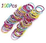 Da.Wa 100X Gomas Elásticas para el Pelo Cuerda De Pelo Caballo de Accesorios Para El Cabello Para Niñas(Multicolor)
