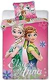 Disney 112 Frozen Die Eiskönigin Baby Wende-Bettwäsche Set 100 x 135cm