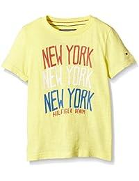 TOMMY HILFIGER KIDS - New York Cn Tee S/S, Camisa De Pijama de niños, amarillo, 8