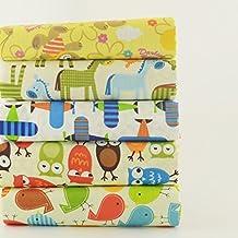 OPEN BUY 5 Telas Infantiles DE 40 X 50 cm para Manualidades, Costura, Scrapbooking