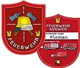 6 Ausweise für * FEUERWEHR * in Form eines Marke für eine Mottoparty // Kindergeburtstag Kinder Geburtstag Feier Set Fest Party Motto Deko Spiel Mitgebsel Feuerwehrmann Feuer