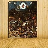 yiyiyaya Dipinto dai Numeri per Bambini Delizie Ritratto di Bosch Pittura Pittura Seta Poster Decor -16x20inch_04