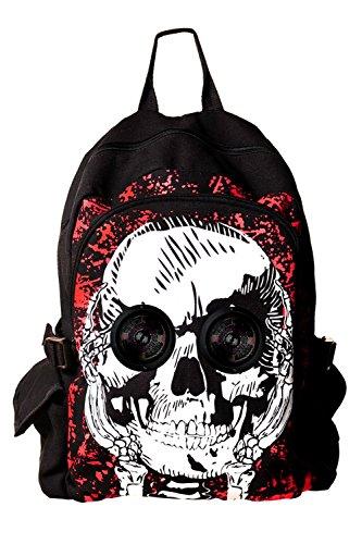 Rucksack mit Lautsprechern Totenkopf - Skull Backpack with Speakers Speaker-griffe
