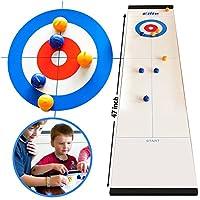 Elite-Sportz-Curling-Tabletop-Tischspiel-fr-die-ganze-Familie-Spa-fr-Kinder-und-Erwachsene Elite Sportz Curling – Tabletop Tischspiel für die ganze Familie – Spaß für Kinder und Erwachsene -