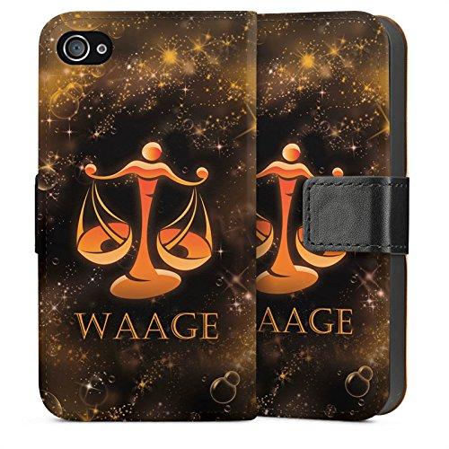 Apple iPhone 5s Housse Étui Protection Coque Balance Signes du zodiaque Astrologie Sideflip Sac