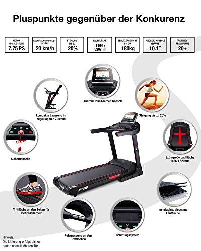 Sportstech F48 Profi Laufband mit Tablethalterung - klappbar Abbildung 3