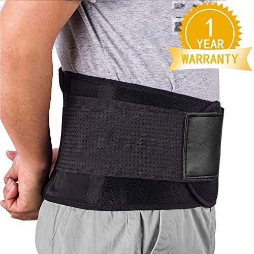 Rückenbandage Rückengurt Lindert Schmerzen - Acdyion Rückenstützgürtel, Geradehalter Rückenlehne für gute Körperhaltung, Haltungskorrektur, Verletzungen zu vorbeugen, Rückenmuskulatur Schwarz(L)