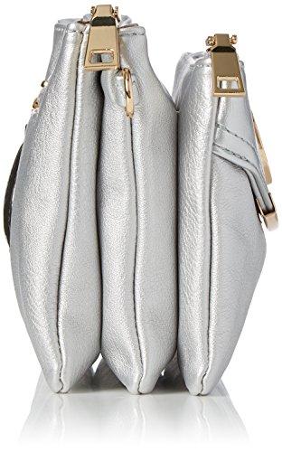 Swanky Swans - Kayla 3 Pocket, Borse a tracolla Donna Argento (Silver)
