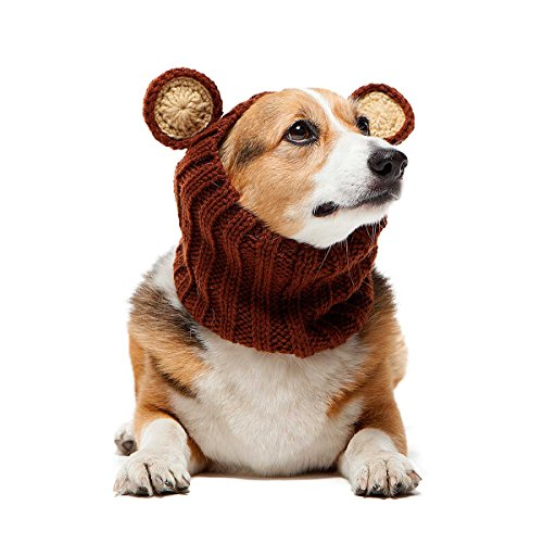 Zoo Kapuzenschal die Original Knit Grizzly Bear Dog Snood, groß