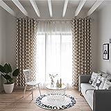 yunt 2pezzi tenda finestra set, 70% trasparente con moderno modello tende con bordo arricciato bello accessori per la casa soggiorno decorazione, 100x 280cm Grau
