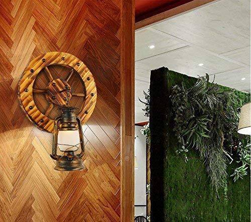 GCCI Kreative Bambus Holz Retro Lampe Dekorative Wand Nachttischlampe Wohnzimmer Wandleuchte, Persönlichkeit Einfache E14 Laterne Lampen Kunst und Lounge Restaurant Bar Café Hotel Dekoration Flur LIC -