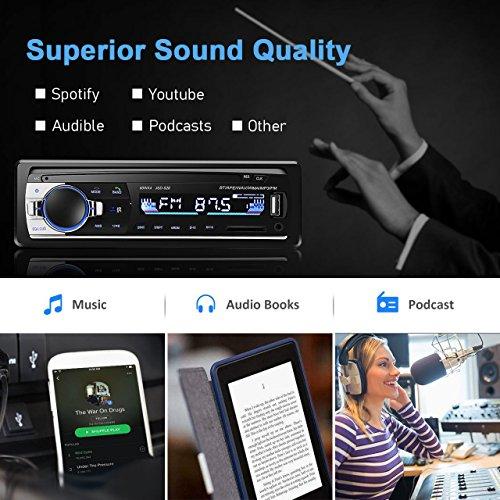 Hifi-geräte 100% Wahr Bluetooth Vintage Auto Radio Mp3 Player Stereo Usb Aux Klassische Auto Stereo Audio