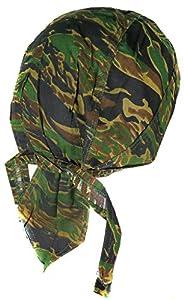 Bandana camouflage strip tiger camo serre tete homme femme biker moto paintball airsoft
