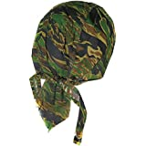 Bandana camouflage strip tiger camo serre tete homme femme biker moto paintball airsoft
