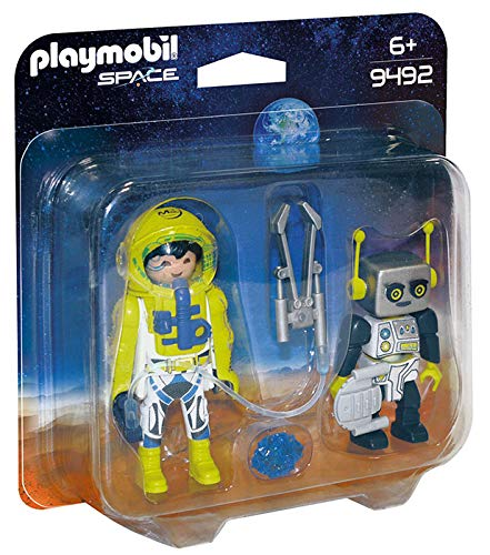 Playmobil- Duo Pack Astronauta y Robot Juguete
