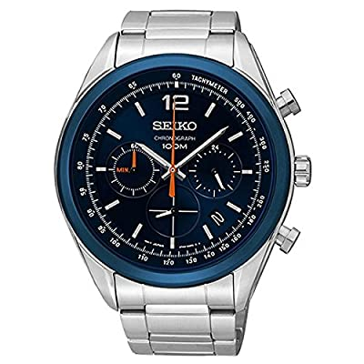 Seiko SSB091P1 - Reloj de Cuarzo para Hombre, con Correa de Acero Inoxidable, Color Plateado de Seiko