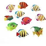 UEETEK 10ST Schwimmende Künstlich Deko Fisch Ornament Dekoration für Aquarium Fish Tank
