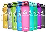 Grsta Sport Trinkflasche 32oz-1000ml - Wasserflasche Auslaufsicher, Eco Friendly BPA Frei Tritan Kunststoff Flaschen mit Frucht Filter, Sporttrinkflasche für Kinder, Gym, Yoga, Laufen, Camping, Büro (Rosa)