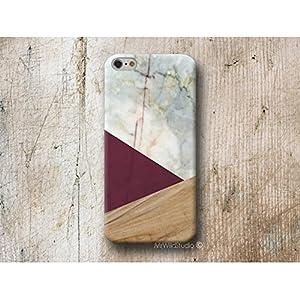 Burgund Holz Weiß Marmor Handy Hülle Handyhülle für Samsung Galaxy S10 S10e S9 S8 Plus S7 S6 Edge S5 S4 mini J7 J6 J5 J3 A8 A7 A6 A5 A3 Note 9 8 5 4