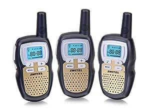 Switel wte2313Talkie Walkie Trio Set de 8canaux, portée 38CTCSS codes et 5km