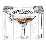 Mauspad Nostalgie Alkohol Retro Cosmopolitan Cocktail Bedruckt