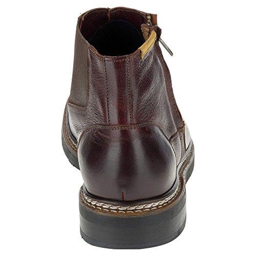 Caterpillar Mens Adner Chukka Boot Burgundy Full Grain Leather