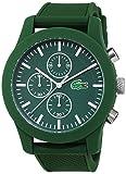 Lacoste 2010822 - Reloj analógico de pulsera para hombre, esfera con cronógrafo, correa de silicona,Verde