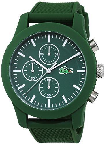 Lacoste 2010822 Orologio al quarzo da uomo, display cronografo e cinturino in silicone,Verde