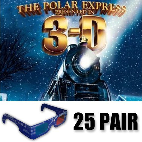 American Paper Optics The Polar Express 3D Glasses Party Pack (GLASSES ONLY 25 pair)