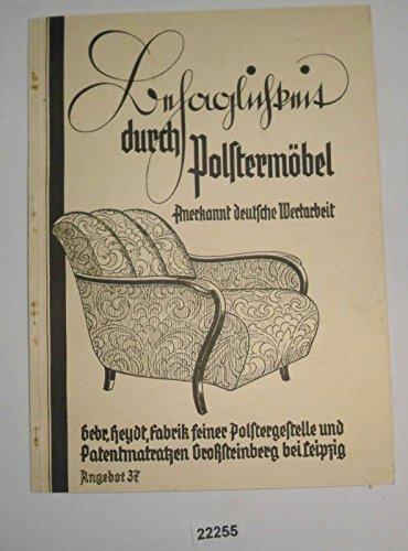 Bestell.Nr. 319572 Katalog: Behaglichkeit durch Polstermöbel - anerkannt deutsche Wertarbeit (Angenot 37) -