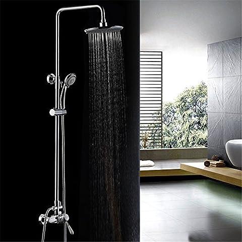 CAC Kit de ducha de baño de cromo pulido C592