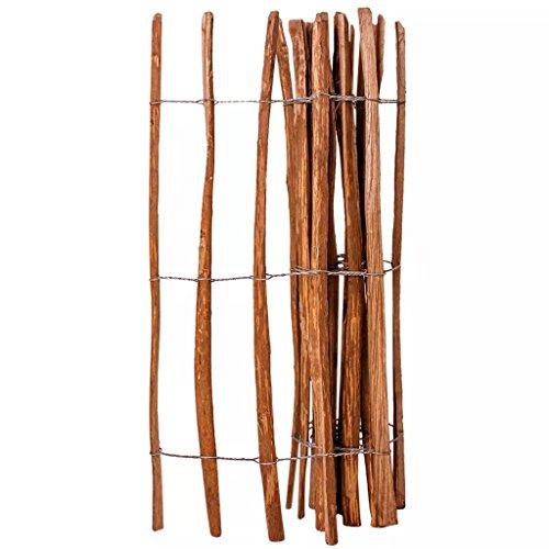 Zora Walter clôture en bois de noisetier imprégné 120 x 250 cm clôture jardin barrières extérieures clôture bois Accessoires clôture Kit Clôture extérieur
