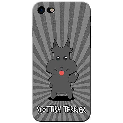 Scottish Terrier, Scottie, Aberdeen Terrier Hartschalenhülle Telefonhülle zum Aufstecken für Apple iPhone 8 -