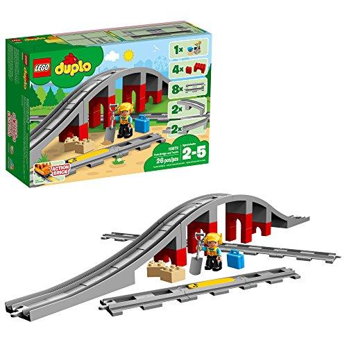 Lego Dulpo 10872 - Ponte e binari ferroviari (26 Pezzi)