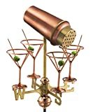Good directions 8861PG Martini con occhiali da giardino banderuola, in rame lucido con Garden Pole