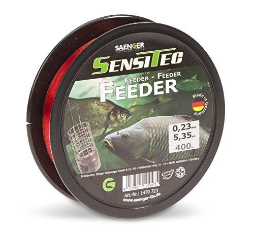 SENSITEC FEEDER - Farbe: rot - Ø 0,23mm/5,35kg/400m NEW 2018 Angelschnur monofil Sänger