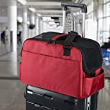 Cat Carrier Soft Sided Puppy Bags Pet Car Seat Crate Dog Travel Luggage Duffle Shoulder Bags Airline Approved (Red)
