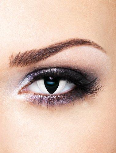 Edit farbige Katzenaugen Kontaktlinsen Weiß ohne Stärke für Halloween und (Tier Kontaktlinsen)