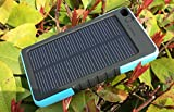 SUNYOUNGER� 8000mAh Portable Shockproof Waterproof Dustproof Solar Charger 5v 200mA Solar Panel Dual USB Port Portable charger Backup External Battery Power Pack for iPhone 6 Plus 5S 5C 5 4S 4, iPad Air Mini, iPods(Apple Adapters not Included), Samsung Galaxy S5 S4 S3,Note 4 3 2, Nexus, HTC, Android Phones,Windows phone, Bluetooth Speakers, MP3, Tablets and Other Devices Blue Color