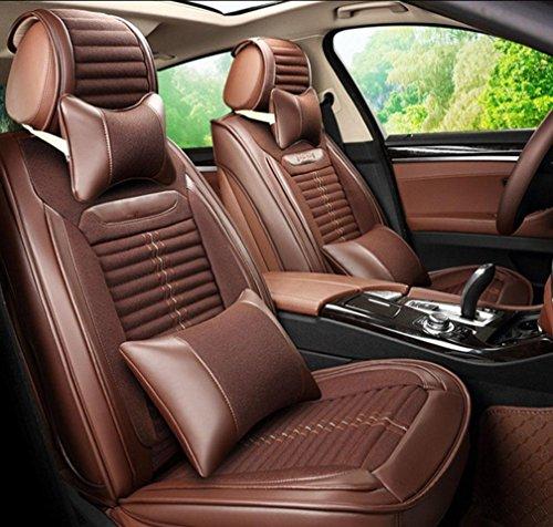 Homee @ Lin voiture Coussin Protection de l'environnement quatre saisons Santé Coussin 3D Split Cuir Housse de siège