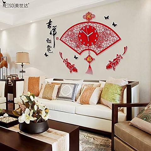 NLLPJMF Creative semplice soggiorno arte orologio da parete a parete digitale orologio 26 pollici , bigmac luce notturna, la pace e la prosperità.