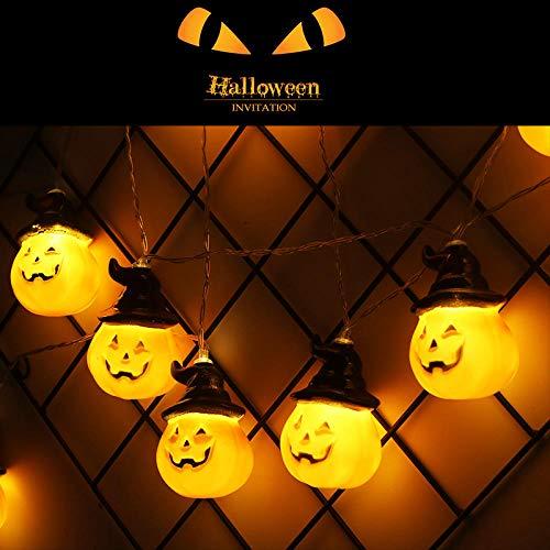 Decorazione di halloween, stringa di puntelli di zucca con sorriso di fantasma a led, soggiorno fai da te, festa, bar, abito da giardino, b