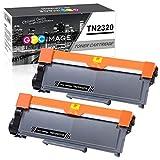 GPC Image TN2320 TN-2320 Cartouche de Toner Compatible pour TN2310 TN-2310 pour Brother DCP-L2500D DCP-L2520DW DCP-L2540DN DCP-L2560DW HL-L2300D HL-L2340DW HL-L2360DN MFC-L2700DW MFC-L2720DW (2 Noir)