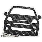 FIAT Schlüssel-Anhänger | Echtes Carbon | Geschenk-Idee | Tuning | FIAT Abarth Punto