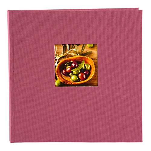 Goldbuch Fotoalbum mit Fensterausschnitt, Bella Vista, 25 x 25 cm, 60 weiße Seiten mit Pergamin-Trennblättern, Leinen, Fuchsia,  24 888 -