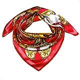 Lorenzo Cana Luxus Damen Seidentuch aufwändig bedruckt Tuch 100% Seide 90 x 90 cm harmonische Farben Damentuch Schaltuch