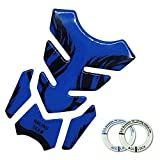 Lidauto 3D Motorrad Tankdeckel Aufkleber Motorräder Decals Flame Grafiken Universal,Blue